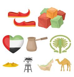 arab emirates set icons in cartoon style big vector image