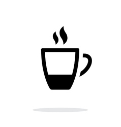 Ending coffee cup icon on white background vector image vector image