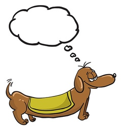 evil dachshund with speech bubble vector image