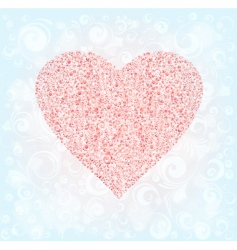 Ornamented heart vector