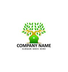 tree house logo vector image vector image