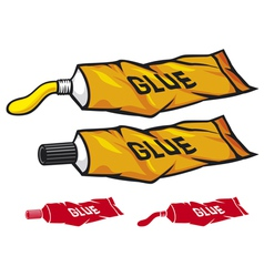 tube of glue vector image vector image