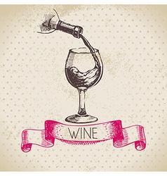 Wine vintage background vector image vector image
