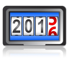2016 New Year counter vector image vector image
