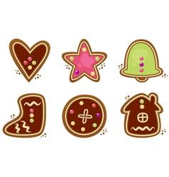 Christmas cookies vector image vector image