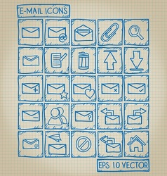 E-mail Icon Doodle Set vector image