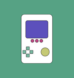 flat icon design collection tetris portable game vector image
