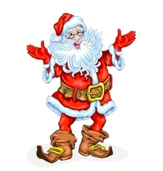 Friendly santa claus vector