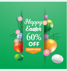 happy easter super sale banner background vector image vector image