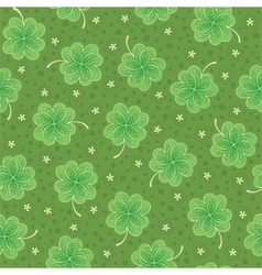 Seamless background with shamrock vector image vector image