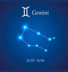 zodiac constellation gemini the twins vector image