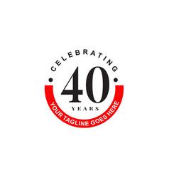 40th year celebrating anniversary emblem logo vector