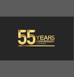 55 years anniversary celebration with elegant vector