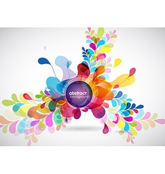 Abstract colored background with leafs and place vector image
