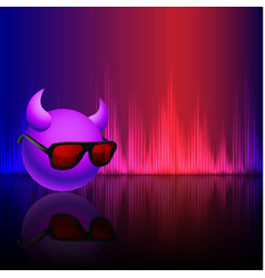 Abstract equalizer background with smiley vector