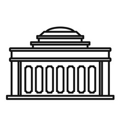 Academy building icon outline style vector