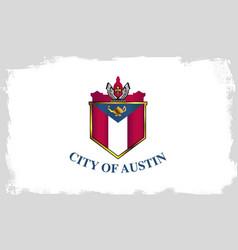 austin city flag vector image