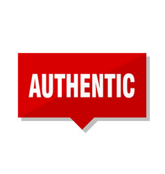 Authentic red tag vector
