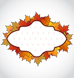 Autumnal card with colorful maple leaves vector image