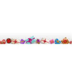Banner with sparkles and gift boxes vector