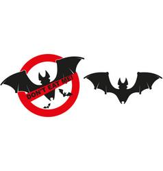 bat funny sighn vector image