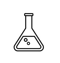 beaker tube icon chemestry or pharmacy vector image