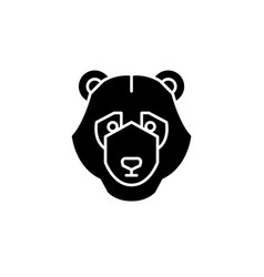 bear trend black icon sign on isolated vector image