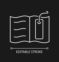 Bookmark white linear icon for dark theme vector