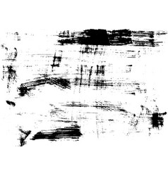 Brushed black print texture on white paper vector