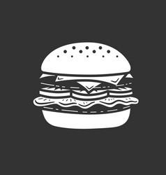 burger icon or logo art style vector image