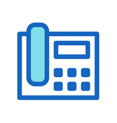 business phone filled line icon blue color vector image