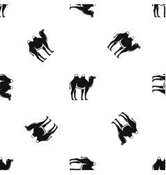Camel pattern seamless black vector