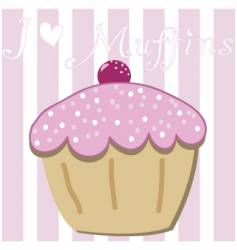 cartoon muffin vector image
