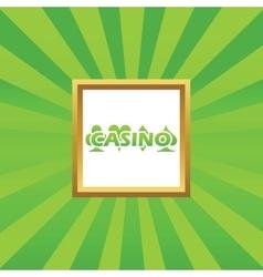 Casino picture icon vector
