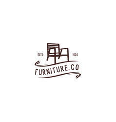 chair furniture vector image