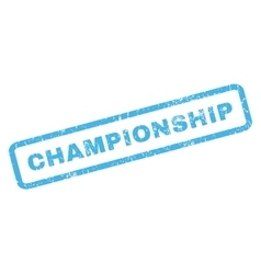 Championship Rubber Stamp vector