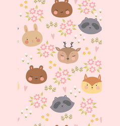 childish seamless pattern with cute spring vector image