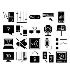 communication and digital devices isolated vector image