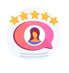 Customer experience feedback concept vector