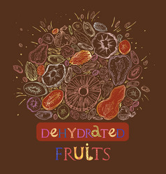 Dehydrated fruit pattern vector