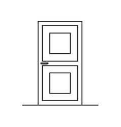 Door line icon vector
