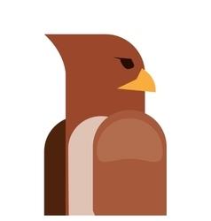 eagle cartoon icon vector image