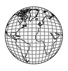Earth planet map icon vector