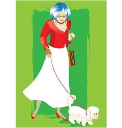 Elderly woman vector image vector image