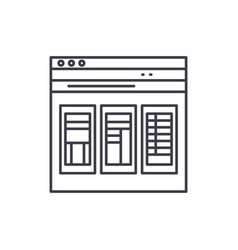 Financial statements line icon concept financial vector