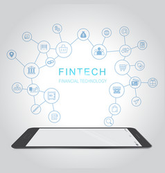 Fintech investment financial internet technology vector