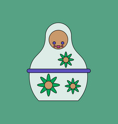 Flat icon design collection russian doll vector