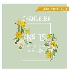 Floral Spring Graphic Design - with Narcissus vector