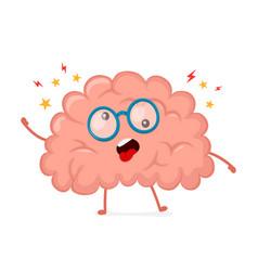 funny cute crazy mad sick brain vector image