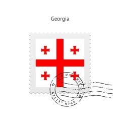 Georgia Flag Postage Stamp vector